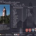 """Rückseite der CD """"Weihnachtsoratorium und Missa in Es"""""""